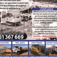 Plant machinery and earth moving equipment.