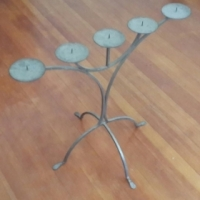 Hand crafted candle stand