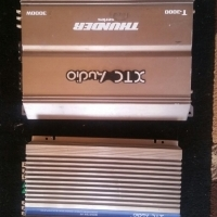 2 car amps to swap for house amp