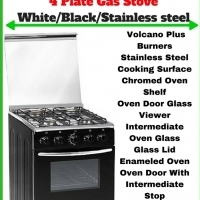 4 PLATE GAS STOVE - Black