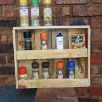 spice rack for kitchen or braai area