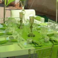 Stylish white table for your event.