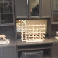 3 Piece dark wood wall unit