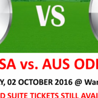 SUITE TICKETS ~ SA vs Aus ODI at Wanderers on 02 Oct 2016 ~ SUITE TICKETS