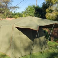 Canvas dome tent 3x3 m with extention R 6700
