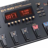 BOSS GT-100 GUITAR MULTI-FX PROCESSOR WITH COSM AMP