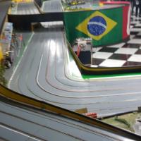 50 metre wooden slot car track