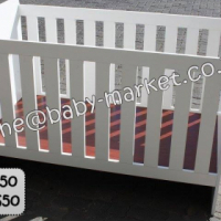 New Large Cot - White
