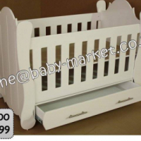 New Hurricane Cot With Drawers - White