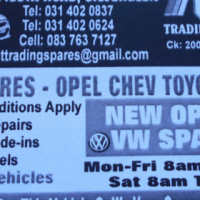 Opel/ Vw/ Toyota new and used spares