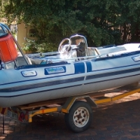 Prestige 475 Rubberduck with 90 hp Mariner outboard