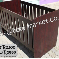 New Large Cot - Mahogany