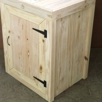 Kitchen Cupboard Base unit Farmhouse series 700 with 1 door - Raw