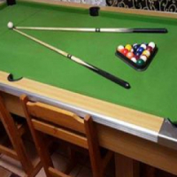 Pool table hardly ever used