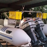 Rubber Duck Boat Yamaha 5.5m, 60cc x 2, For Sale!!