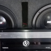 Subs and amp for sale or swap.