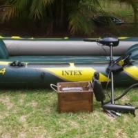Seahawk 4 inflatable boat with electric motor&battery