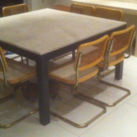 marble dining table with 3 coffee tables and 10 chairs sell or swop R6000