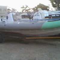 24ft semi rigid on trailer