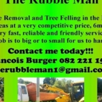Rubble removal and tree felling
