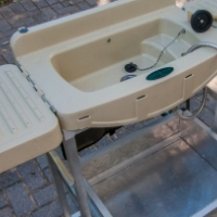 FOR SALE: Camping wash basin and aluminium stand