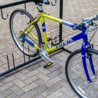 Sold  Bicycle rack for five bicycles