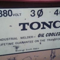 TONCO 3 phase welder for sale.