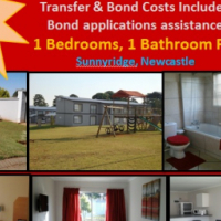 Beautiful 1 bedroom flats available for R469'000 in good area in Newcastle