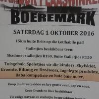Boeremark 1 Oktober 2016