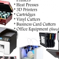 We supply Heat Presses, Printers, Office Equipment, Cartridges, 3D Printers, Business Card Cutters