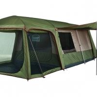 CAMP MASTER. FAMILY CABIN 900. 9 Sleeper. 510cm (l) x 280cm (w) x 200cm (h).