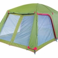 CAMP MASTER. FAMILY CABIN 500. New demo tent. 5 Sleeper. 4400mm x 2600mm x 2100mm high