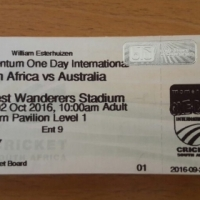 Suite/Box Tickets for SA vs Aus ODI at Wanderers on Sun 02 Oct 2016
