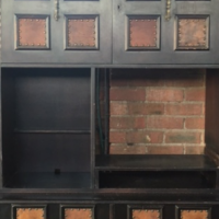 Beautiful dark wood wall unit for sale!