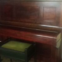 Neufeld Piano with ivory keys and stoo