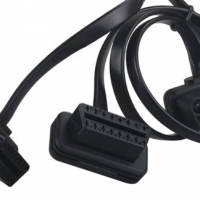 SLIM 2-in-1 OBD2 Converted Extension Cable (Product Code: CAD057)