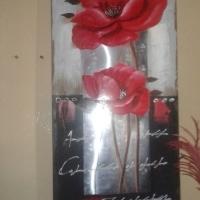 Rooi blom portret