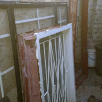 2 x steel window frames selling from 350 up to 750.00