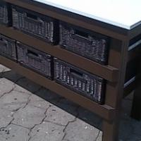 Kitchen Island Farmhouse Elegant series 1480 with extra shelf
