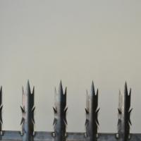 3m long x 250m high 30x30 2mm 24palings  0n a angel. Wall panel R260 inc.