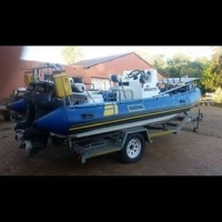 6m rubberduck for sale including all equipment eg.safety, fish finder, gps.2 x 115hp yamaha 2stroke