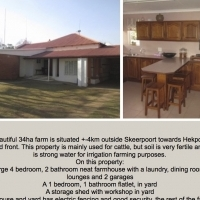 This beautiful 34ha farm is situated +-4km outside Skeerpoort