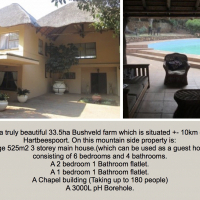 6 Bedroom house Bokfontein possible potential for guesthouse or lodge.