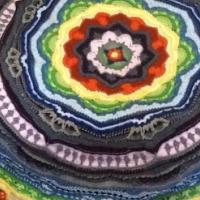 New Beautiful Hand Crochet Mandala Throw