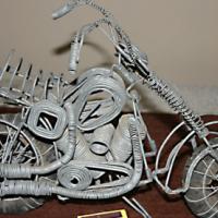 Wire-Mesh Harley Davidson