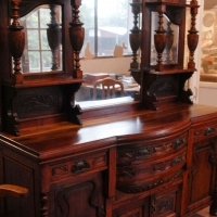 Solid wood antique sideboard