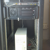 Server with Linux computer