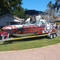 PANACHE 2450 LX WAKEBOARD TOWER WITH SOUND SYSTEM !!! for sale  Pinetown