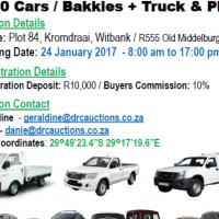 ±150 Cars / Bakkies + Truck & Plant AUCTION