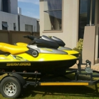 sea doo Jetskis with twin trailer
